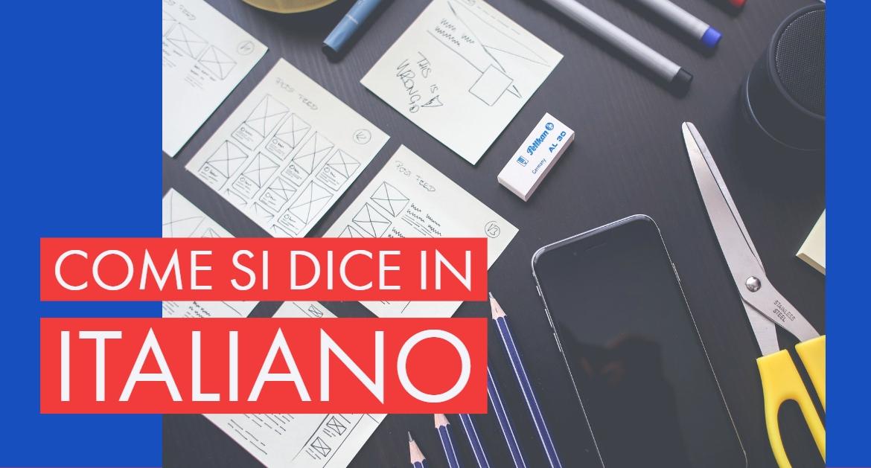 Video- Basic Italian phrases: how to say in Italian