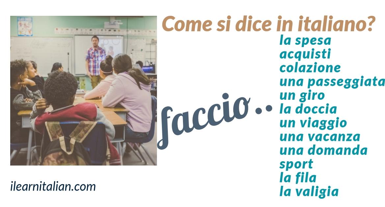 """Che fai? Use of verb """"fare"""""""