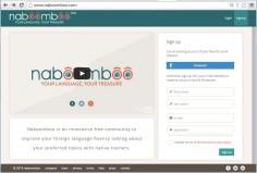 Language exchange platform: Naboomboo