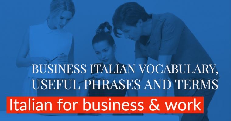 Italian for business: learn Business Italian online