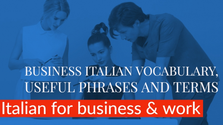 Italian for business: learn Business Italian online