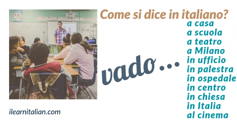 To go in Italian: Form & Use