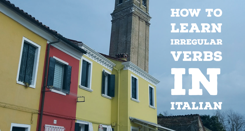 Tips for irregular verbs in Italian