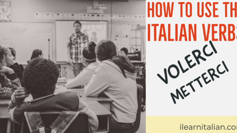 "How to use ""Volerci"" and ""Metterci"" in Italian"