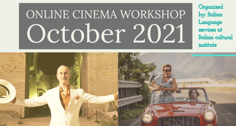 Online Italian Cinema workshop- October 2021